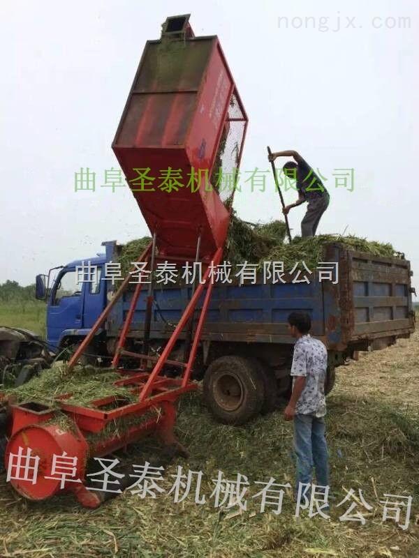 自卸料斗玉米秸秆收割机 玉米秸秆青贮收获机