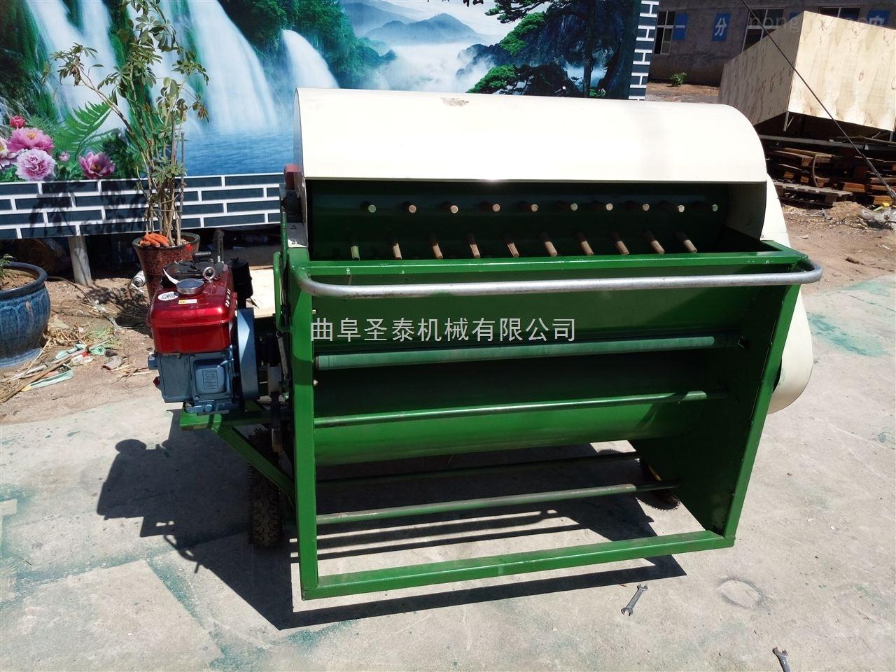 柴油机带毛豆采摘机 毛豆摘果机多少钱