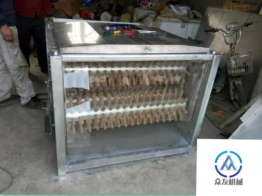 众友机械生产不锈钢卧式七棍鸡脱毛机