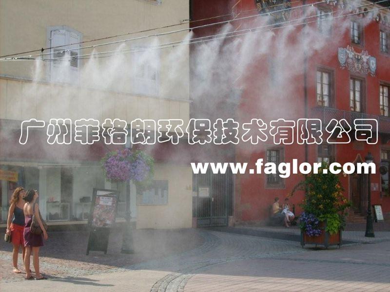 福建噴霧降溫品牌/專業設計室外噴霧降溫系統/環保降溫設備