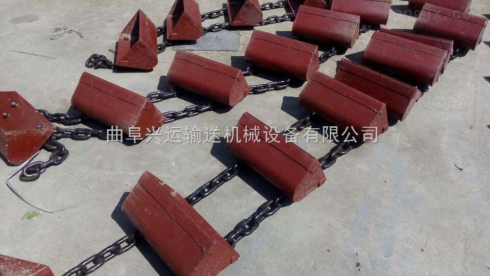 加厚环链钢斗式加料机,肥料矿粉瓦斗式输送机