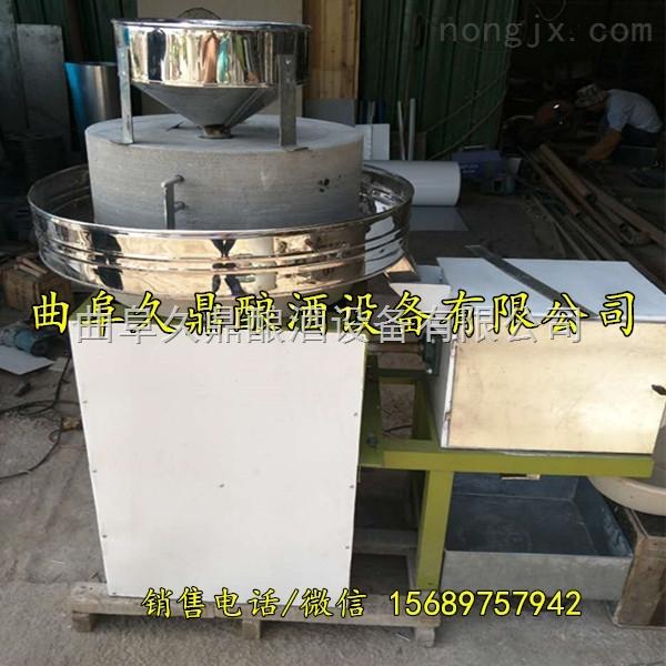 阳原县电动芝麻酱石磨机 优质石材石碾子 香油芝麻磨浆机