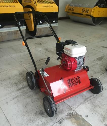 河南郑州手推式汽油草坪梳草机 天然草坪养护园林机械 球场专用梳草机